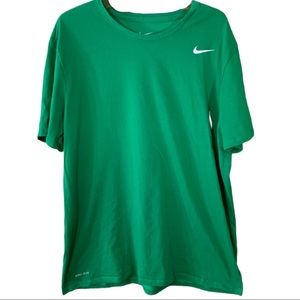 Nike Dry Fit Athletic Cut Green Tee- Size XL